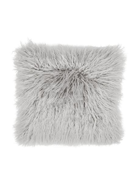 Federa arredo in ecopelliccia grigio chiaro Morten, Retro: 100% poliestere, Grigio chiaro, Larg. 40 x Lung. 40 cm