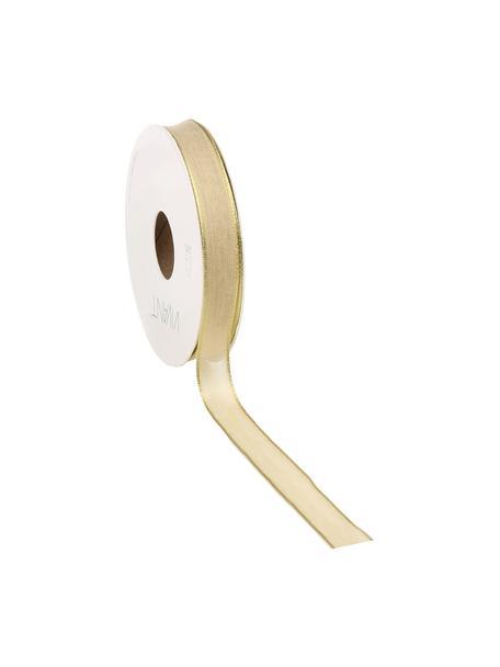 Geschenkband Batiste, 55% Rayon, 45% Polyester, Hellbraun, Goldfarben, 3 x 1500 cm