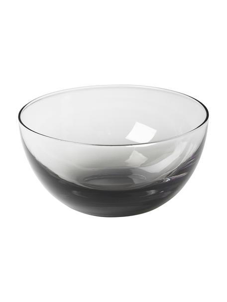 Miska ze szkła dmuchanego Smoke, 2 szt., Szkło, Ciemny szary, transparentny, Ø 12 x W 6 cm