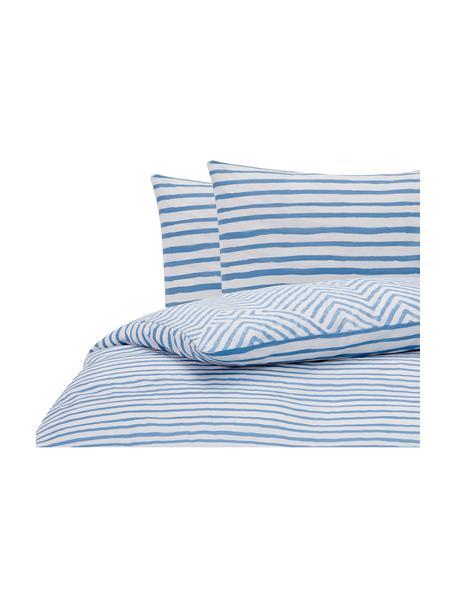 Dekbedovertrek Get Framed, Katoen, Lichtblauw, wit, 240 x 220 cm