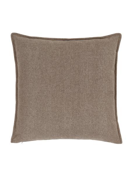 Cuscino arredo marrone Lennon, Rivestimento: 100% poliestere, Marrone, Larg. 60 x Lung. 60 cm