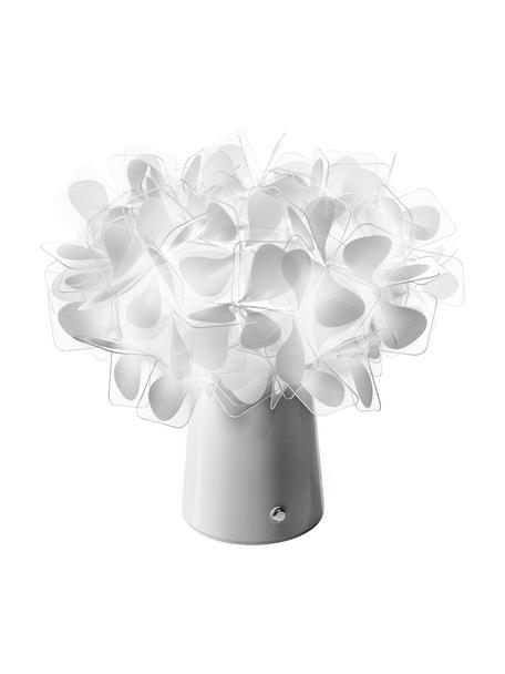 Kleine mobiele dimbare tafellamp Clizia, Lampenkap: Lentiflex, Lampvoet: Lentiflex, Grijs, Ø 27 x H 25 cm
