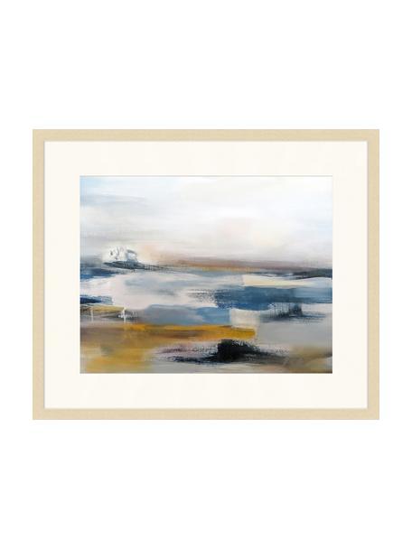 Gerahmter Digitaldruck Abstract Art Painting, Bild: Digitaldruck auf Papier, , Rahmen: Holz, lackiert, Front: Plexiglas, Mehrfarbig, 63 x 53 cm