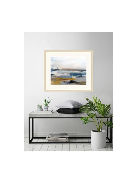 Stampa digitale incorniciata Abstract Art Painting, Immagine: stampa digitale su carta,, Cornice: legno, verniciato, Multicolore, Larg. 63 x Alt. 53 cm