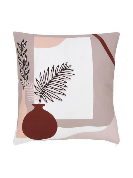 Kissenhülle Silia mit sommerlichem Motiv, 100% Baumwolle, GOTS-zertifiziert, Mehrfarbig, 45 x 45 cm