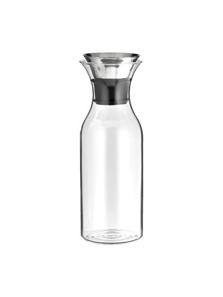 Glaskaraffe Eva Solo mit Flip Top Deckel, 1 L, Deckel: Edelstahl, Silikon, Transparent, Edelstahl, H 27 cm