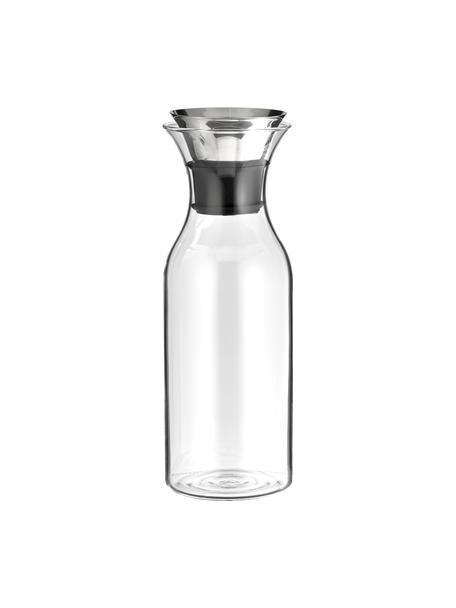 Glazen karaf Eva Solo met Flip Top deksel, 1 L, Deksel: edelstaal, siliconen, Transparant, edelstaalkleurig, H 27 cm