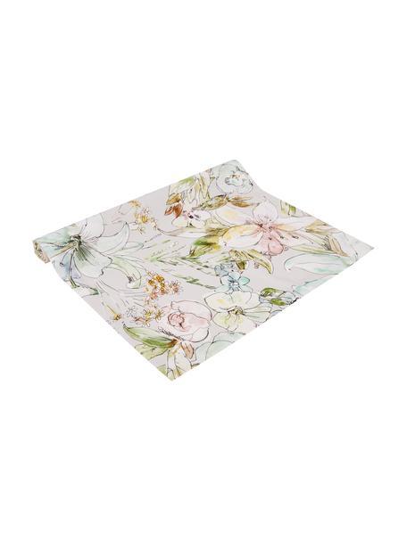Runner con motivi floreali Angelina, 100% cotone, Multicolore, Larg. 50 x Lung. 140 cm