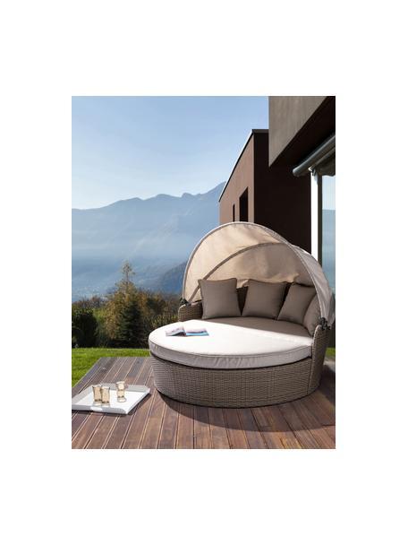 Sofá para exterior Siesta, Estructura: aluminio con pintura en p, Gris pardo, An 168 x Al 145 cm