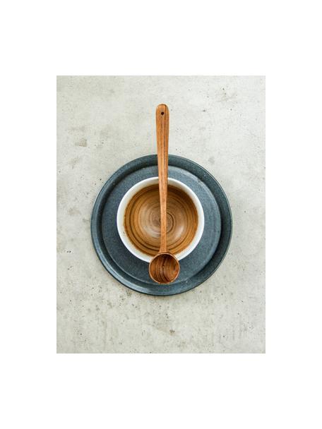 Handgemachte Schälchen Yunomi im japanischen Style, 2 Stück, Steingut, Braun, Weiss, Cremefarben, Ø 11 x H 7 cm