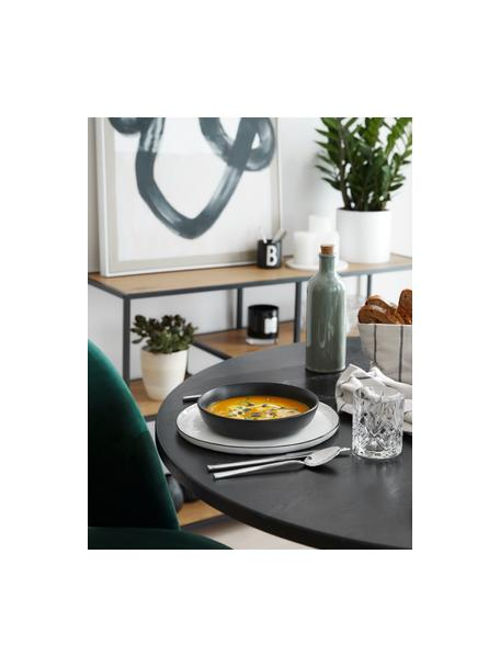 Cuencos pequeños Nordic Kitchen, 4uds., Gres, Negro mate, Ø 20 cm