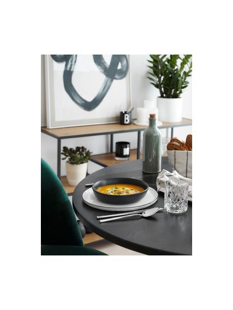 Piatto fondo nero opaco Nordic Kitchen 4 pz, Gres, Nero opaco, Ø 20 cm