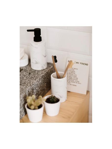 Vaso cepillo de dientes Daro, Cerámica, Blanco, Ø 7 x Al 11 cm