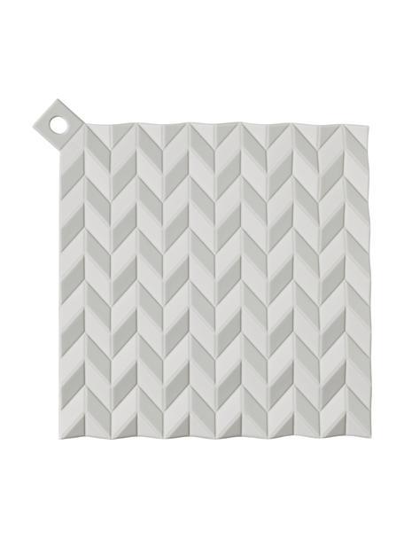 Pannenlappen Hold On, 2 stuks, Siliconen, Lichtgrijs, 19 x 19 cm