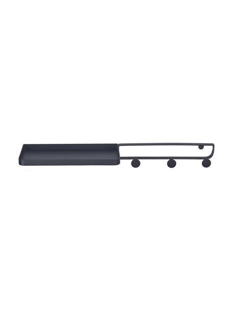 Półka ścienna z lakierowanego metalu Framework, Metal lakierowany, Czarny, S 51 x G 12 cm