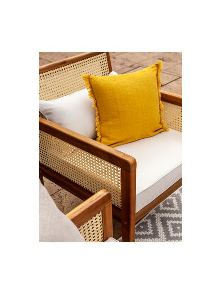 Set lounge de exterior con tejido vienés Vie, 4pzas., Tapizado: 100%poliéster Alta resis, Beige, Set de diferentes tamaños