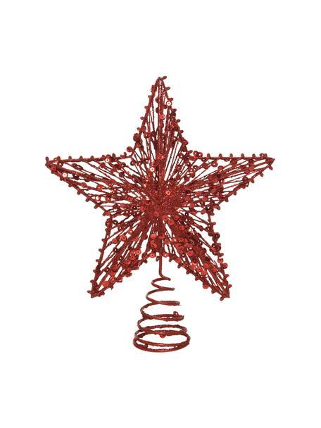 Weihnachtsbaumspitze Elise H 23 cm, Metall, Rot, glänzend, 20 x 23 cm