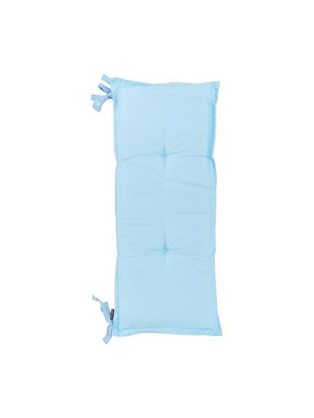 Cojín de banco Panama, Tapizado: 50%algodón, 45%poliéste, Azul claro, An 48 x L 120 cm