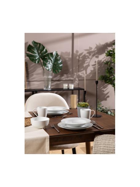 Set van 2 porseleinen soepborden Delight Classic in wit, Porselein, Wit, Ø 23 x H 4 cm