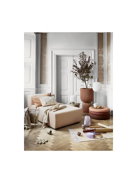 Vaso di design in vetro soffiato Ada, Vetro soffiato, Viola, bianco, Ø 18 x Alt. 26 cm