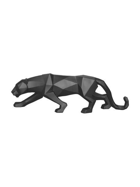 Deko-Objekt Origami Panther, Kunststoff, Schwarz, 48 x 15 cm