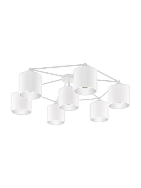 Grote plafondlamp Staiti in wit, Baldakijn: gelakt staal, Wit, Ø 84 x H 24 cm