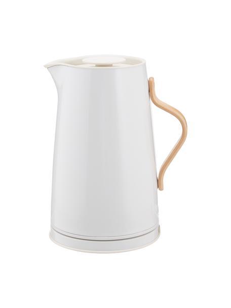 Bollitore elettrico bianco lucido Emma, Rivestimento: smalto, Manico: legno di faggio, Bianco, 1,2 L