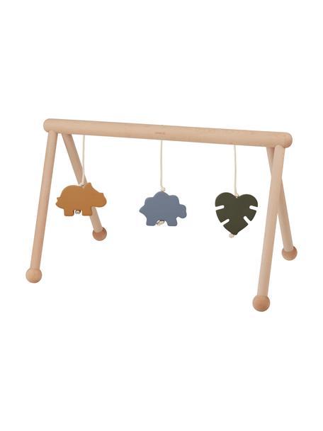 Spielbogen Ernie Dino Mix aus Holz, 100% Buchenholz, Baumwollfaden, Hellbraun,Orange, Blau, Grün, B 72 x T 40 cm