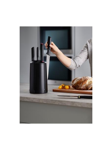Messer-Set Elevate mit Karussell, 6-tlg., Messer: Edelstahl, Griff: Kunsttstoff, Schwarz, Mehrfarbig, Verschiednene Größen