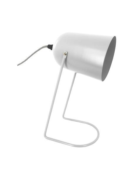 Kleine Retro-Tischlampe Enchant in Weiss, Lampenschirm: Metall, beschichtet, Gebrochenes Weiss, Ø 18 x H 30 cm