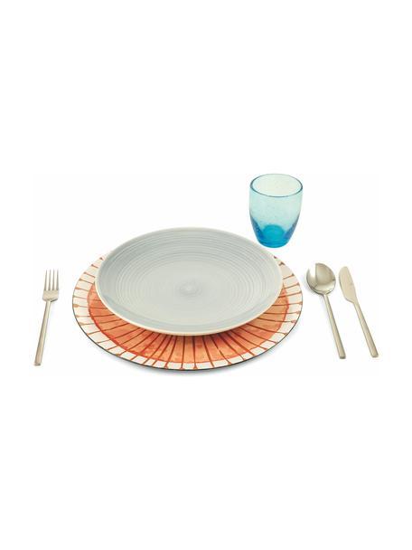 Kunststoff-Platzteller Marea mit bunten Designs, 6er-Set, Kunststoff, Blau, Weiß, Gelb, Grün, Orange, Ø 33 cm