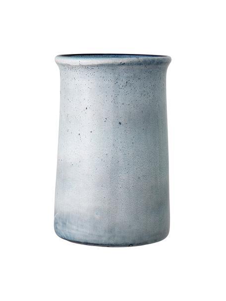 Ręcznie wykonany cooler Sandrine, Kamionka, Odcienie niebieskiego, Ø 15 x W 23 cm