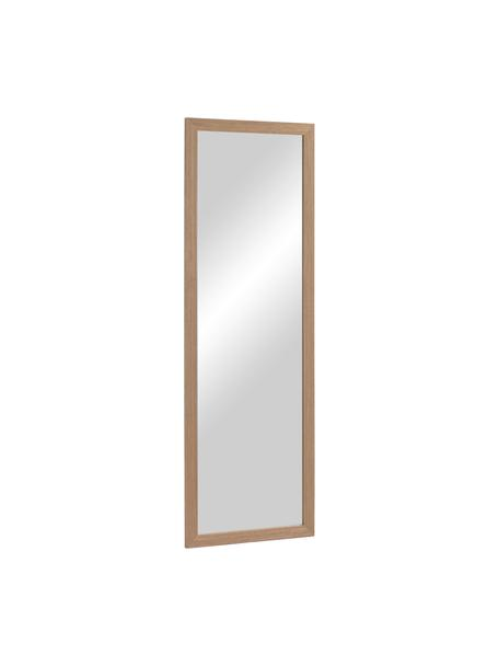 Eckiger Wandspiegel Wilany mit braunem Holzrahmen, Rahmen: Holz, Spiegelfläche: Spiegelglas, Braun , 53 x 153 cm