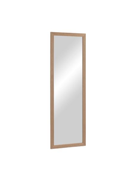 Specchio da parete con cornice in legno Wilany, Cornice: legno, Superficie dello specchio: lastra di vetro, Marrone, Larg. 53 x Alt. 153 cm