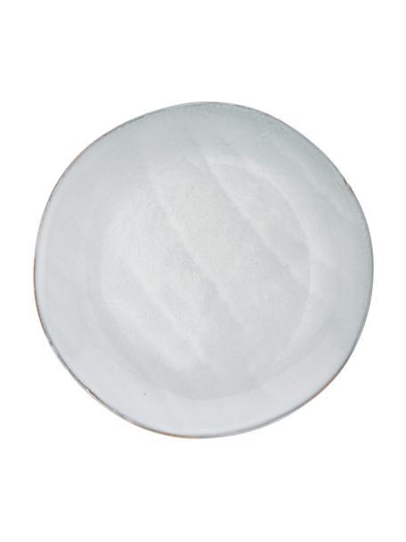 Handgemaakte keramische ontbijtborden Thalia in blauwgrijs, 2 stuks, Keramiek, Blauwgrijs, Ø 22 cm