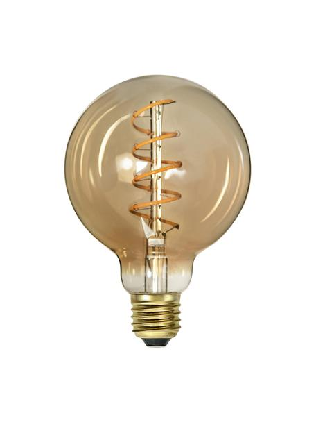 E27 Leuchtmittel, 160lm, dimmbar, warmweiß, 1 Stück, Leuchtmittelschirm: Glas, Leuchtmittelfassung: Aluminium, Bernsteinfarben, transparent, Ø 10 x H 14 cm