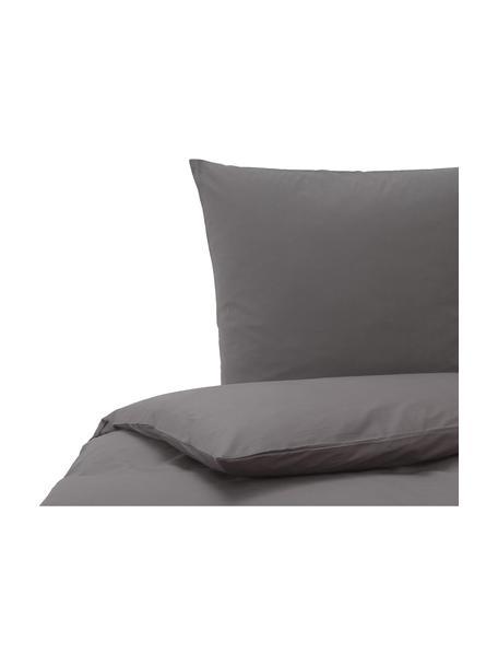 Pościel z bawełny Weekend, Antracytowy, 135 x 200 cm + 1 poduszka 80 x 80 cm