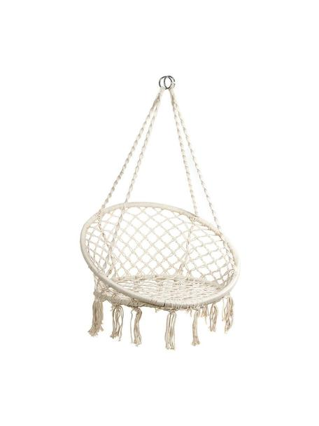 Fotel wiszący Nalita, Stelaż: metal, Beżowy, Ø 82 x W 111 cm
