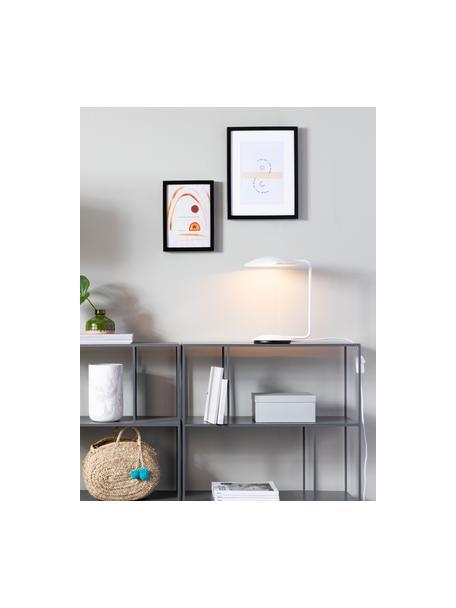 Lámpara de escritorio regulable Pixie, Pantalla: metal con pintura en polv, Cable: tela, Blanco, An 25 x Al 39 cm