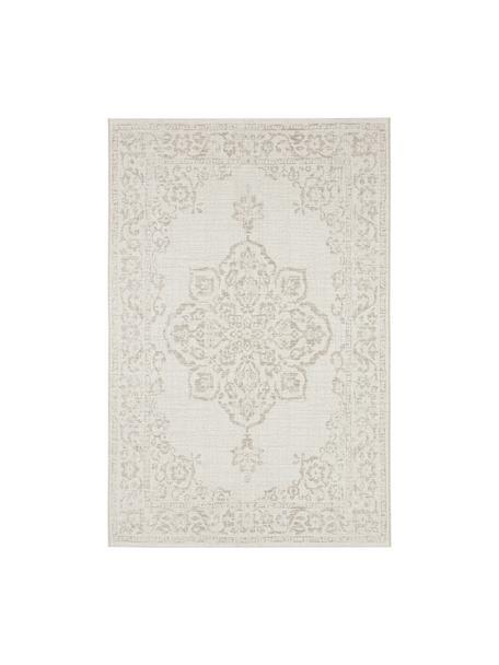 Tappeto vintage da interno-esterno Tilos, 100% polipropilene, Crema, beige, Larg. 120 x Lung. 170 cm (taglia S)