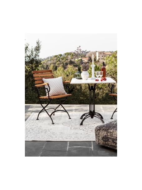 In- & outdoor vloerkleed Tilos in vintage stijl, 100% polypropyleen, Crèmekleurig, beige, B 120 x L 170 cm (maat S)