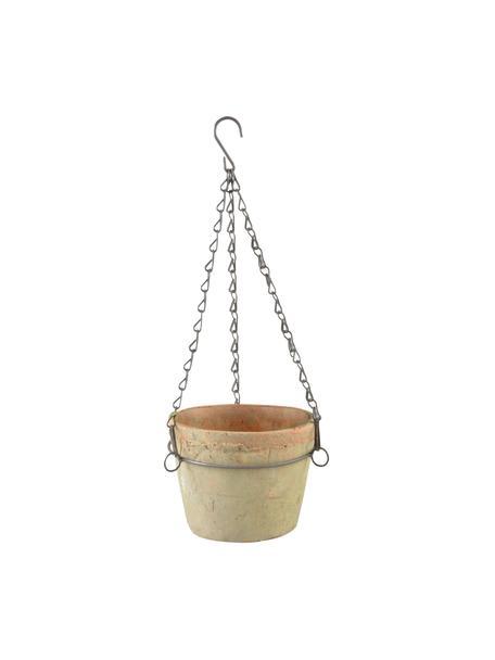 XS hangende plantenpot Vila, Pot: terracotta, Terracottarood, 16 x 12 cm