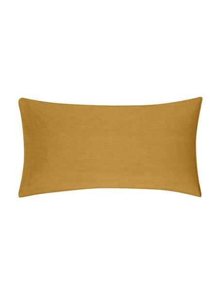 Gewaschene Baumwoll-Kopfkissenbezüge Arlene in Gelb, 2 Stück, Webart: Renforcé Fadendichte 144 , Gelb, 40 x 80 cm