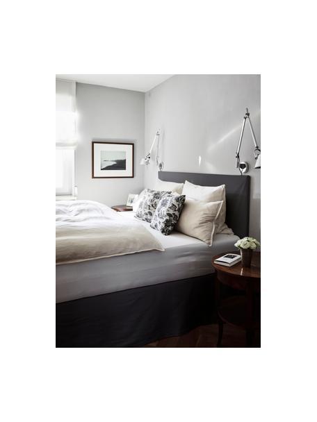 Gestoffeerd bed Feather met opbergruimte in grijs, Frame: massief grenenhout en pla, Bekleding: polyester (gestructureerd, Geweven stof grijs, 140 x 200 cm