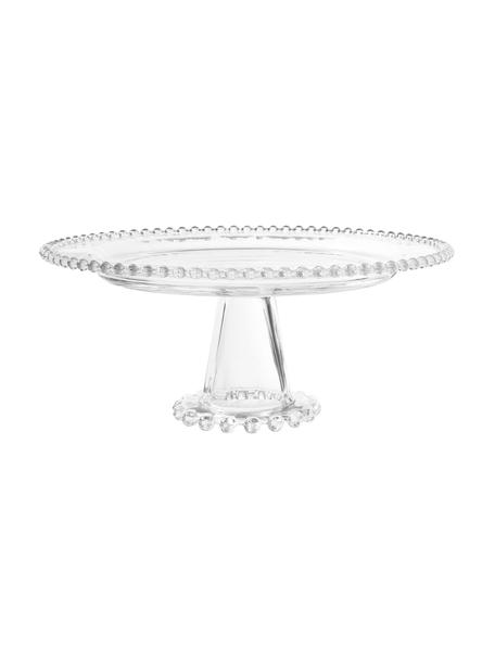 Alzatina Perola, Vetro, Trasparente, Ø 31 x Alt. 12 cm