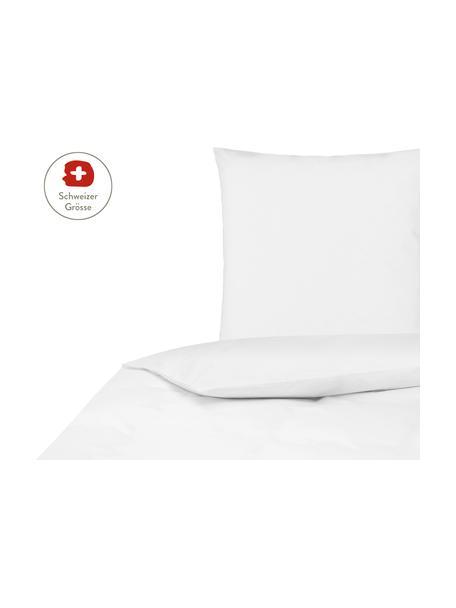 Baumwollperkal-Bettdeckenbezug Elsie in Weiss, Webart: Perkal Fadendichte 200 TC, Weiss, 160 x 210 cm