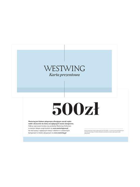 Karta prezentowa, Karta prezentowa z cienkiego papieru, w grubej kopercie, Biały, 500