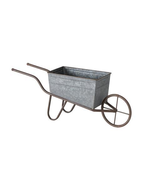 Decoratieve kruiwagen Marusa, Verzinkt metaal, Zinkkleurig, 54 x 21 cm