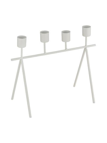Świecznik Refine, Metal powlekany, Biały, S 26 x W 21 cm