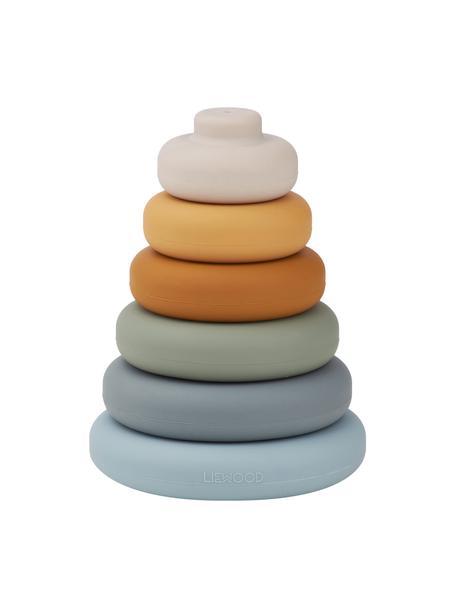 Stapelspielzeug Dag, 7-tlg., 100% Silikon, Blau, Mehrfarbig, Ø 10 x H 13 cm